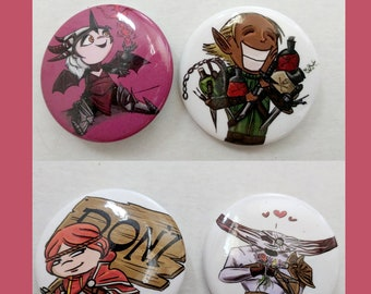 The Littlest Dragon Age Buttons