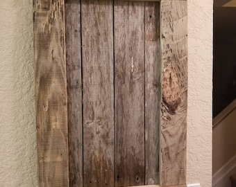Rustic way to hang pictures and more