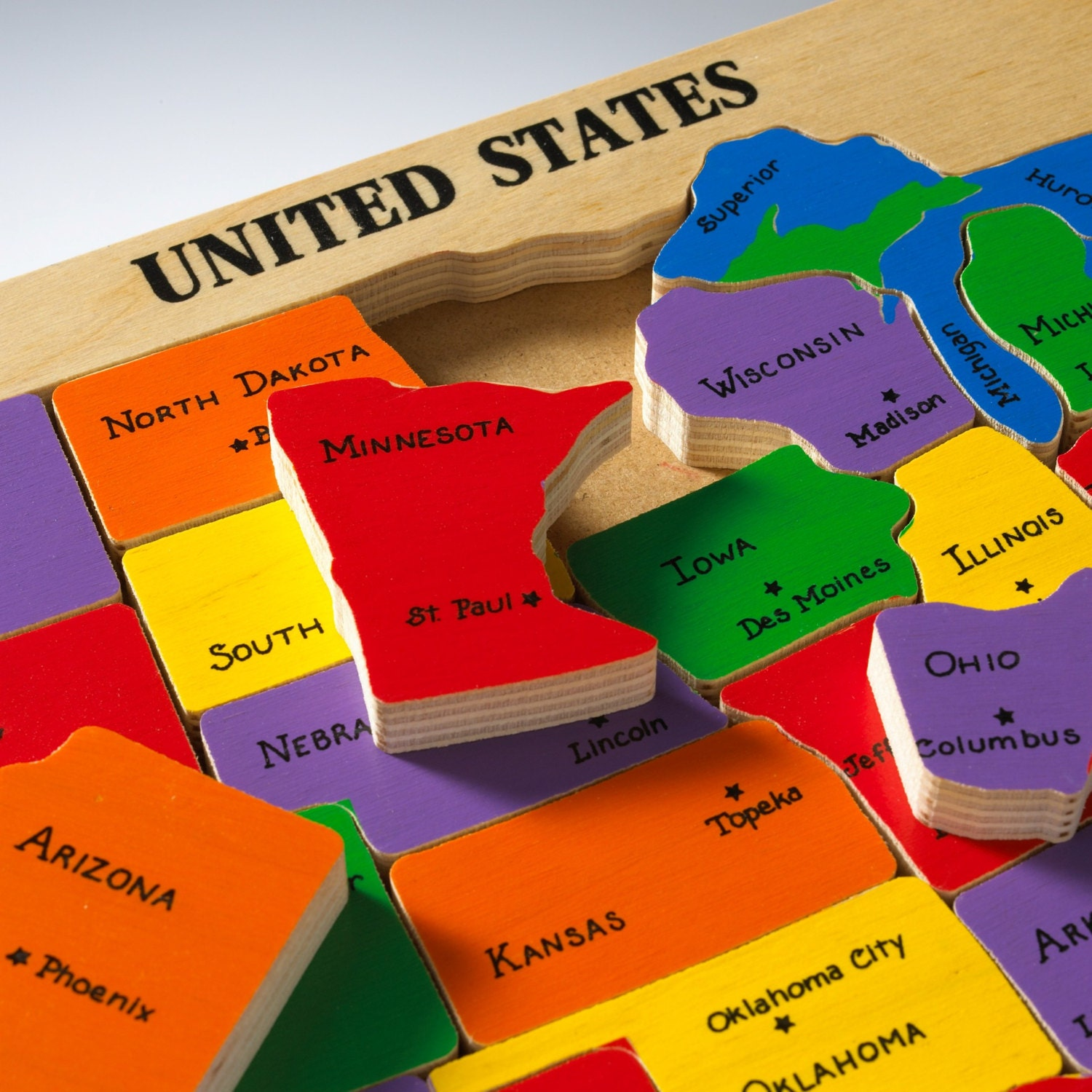 zoom US Map Puzzle u0026 State Capitals
