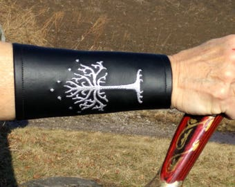 White Tree of Gondor Bracers Lord Of The Rings inspired bracers for Renaissance fairs ,Cosplay, Larping and Halloween