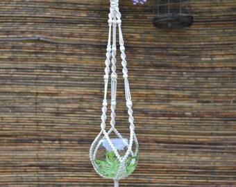 Macrame Plant Hanger / Plant Holder / Hanging Planter / Home Decor / Macrame Plant Holder / pot hanger / garden decor / beaded plant hanger