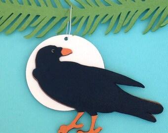 Blackbird Christmas tree ornament