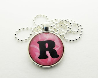 Initial Necklace - R Necklace - Pendant Necklace - Gift for Her - Gift for Him - Personalized Necklace - Letter Necklace