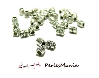 TUBE spacer beads 6 mm ref 310 metal ANTIQUE silver
