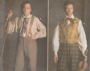 Mens' Historic Shirt & Trouser Pattern Simplicity 5035 Sizes 46 - 52 Uncut