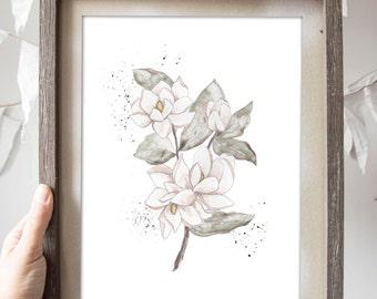 Magnolia Flower Print