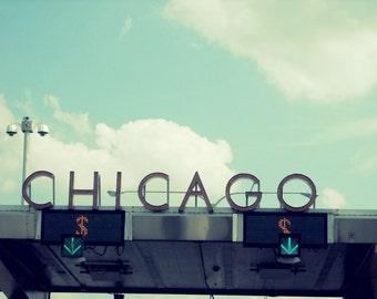 Chicago Photography, Chicago Skyway, Chicago Art, Chicago Photo, Chicago Skyway, city, Art Deco, vintage, travel, aqua