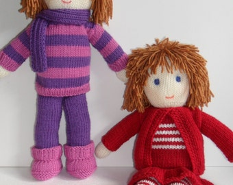 Toy Doll Knitting Pattern pdf   Instant Download