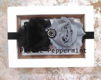 Baby Headband, Baby flower headband, Newborn Headband Toddler Headband - Shabby Flower Baby Head Band