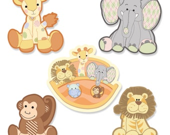 24 pc. Small Noah's Ark Paper Cut Outs - Baby Shower or Birthday Party Die Cut Decoration Kit