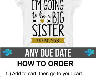 Promoted to big Sister Shirt / I'm going to be a Big Sister Shirt / Pregnancy Announcement Shirt / Big Sister Announcement Shirt