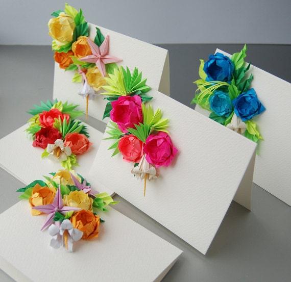 Rosen origami grukarten satz von 5 muttertag karten dir gefllt dieser artikel mightylinksfo