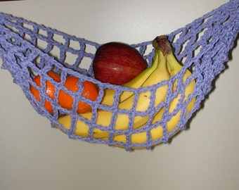 Banana Hammock, Fruit Hanger, Holder, Net, Medium Purple