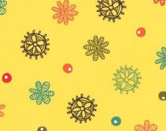 CLOSE OUT SALE Mind Your Ps and Qs by Keiki of Moda  in Sunshine Yellow  32713 17