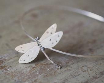Hairband with Dragonfly enamelled