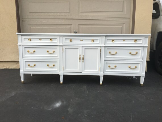 White And Gold Mid Century Modern Dresser Tv Stand Credenza