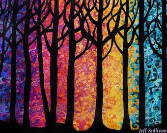 Mosaic forest print