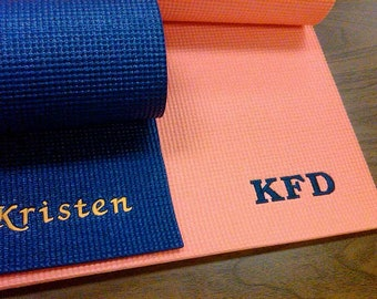 Customised Yoga Mat with optional Name Initials