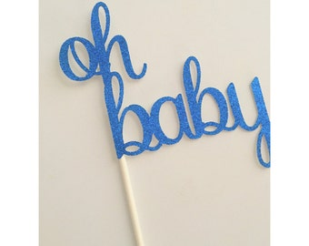 Oh Baby centerpiece, baby centerpiece, baby shower centerpieces, gender reveal centerpieces, oh baby table decor- 4 centerpieces