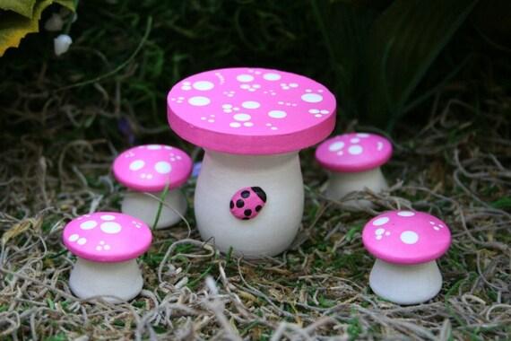 Like this item? & Fairy Garden Furniture 5 Piece Mushroom Table \u0026 Chairs Set