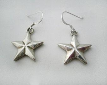 Earrings Silver Nautic Stars