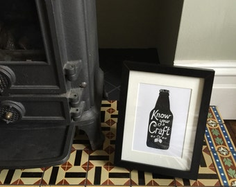 Craft Beer Screen Print