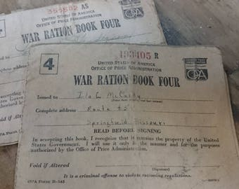 Lot of 2-WW2 Ration Book Four
