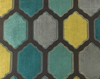 Upholstery Fabric - Seymour - Laguna - Honeycomb Cut Velvet Home Decor Upholstery & Drapery Fabric by the Yard - Available in 13 Colors