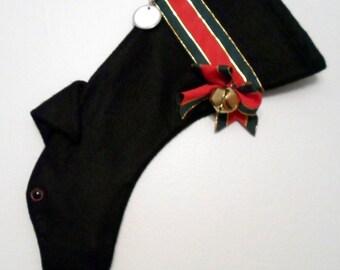 Greyhound Christmas Stocking Solid Black