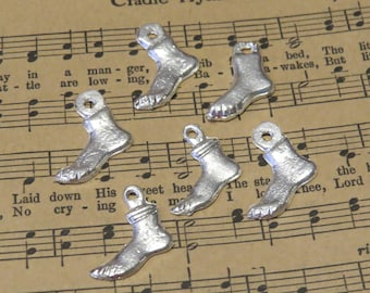 Milagros Foot Charms 6  Silver Tone Feet Charms
