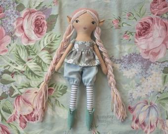 "Iona ~ 14"" Elf doll - handmade rag doll - heirloom"