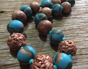 Cupris - Copper & Blue Unique Handmade Statement Necklace
