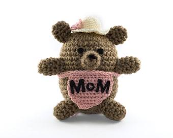 Mama Bear Amigurumi. Brown Bear Amigurumi. Bear Plush. Stuffed Bear. Teddy Bear. Mothers Day Gift from Daughter. Kawaii. MADE.TO.ORDER.