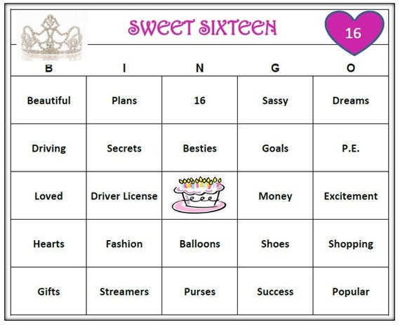 Sweet 16 Party Games