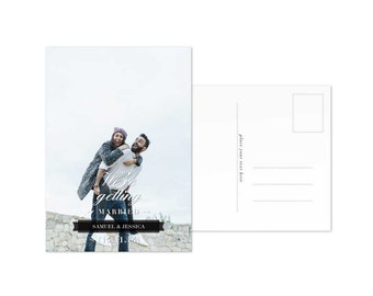 Save the Date Postcard Template Photo Save the Date Cards Download Wedding