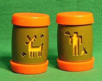 1960s VERY RARE Montana Indian School Shaker Set