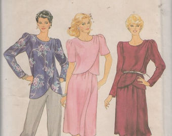 Half Size Tunic, Top andf Skirt  Sewing Pattern Butterick 4133 uncut size 22 1/2 Bust 45