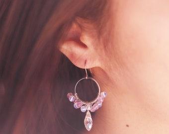 Gemstone-less crystal drop earrings