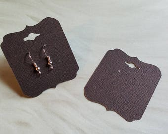 Black Earring Cards, Pierced Earring Cards