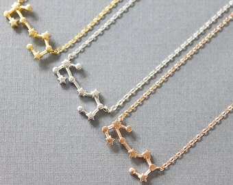 Scorpio Constellation Necklace Zodiac Jewelry Birth Signs Scorpio Necklace Zodiac Scorpio Scorpio Pendant, Constellation Jewelry