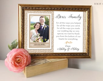 Mother Of The Groom Gift, Parents Of The Groom Gift, Personalized Photo Frame, Personalized Wedding Frame, Wedding Gift For In Laws