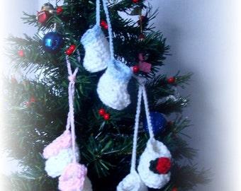 Baby Bootie Ornaments Crochet Pattern PDF 487