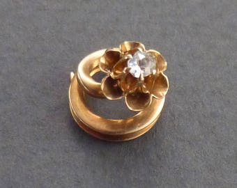 14K buttercup gold and diamond tie stud #2