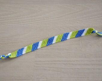 Friendship Bracelet, friendship bracelet, blue green white
