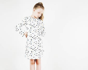 organic cotton nightgown confetti,girls nightdress,kids nightdress,organic kids nightwear,organic nightdress,girls nightgown,girls jammie
