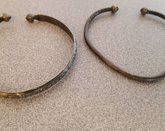 A pair of Sterling silver bangle bracelets