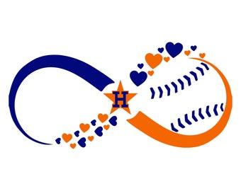 Digi-tizers Houston Astros Infinity Hearts Baseball SVG, Jpg, PDF cutting file, vinyl, decals, HTV, Cricut, Cameo, Laser engraving, Vector