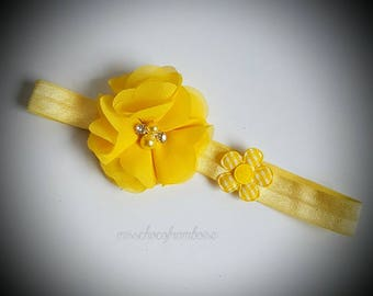 headband for child and adult baby with flowers