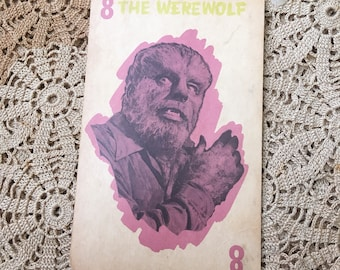 The Werewolf Is Looking Better Than Ever 1960s Large Playing Card