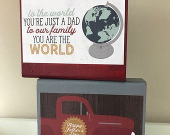 Wooden Father's Day Block